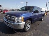 2013 Blue Topaz Metallic Chevrolet Silverado 1500 LS Extended Cab #72766511
