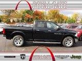 2012 Black Dodge Ram 1500 Laramie Quad Cab 4x4 #72766742