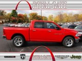 2012 Flame Red Dodge Ram 1500 Big Horn Crew Cab 4x4 #72766741