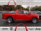 2012 Flame Red Dodge Ram 1500 Sport Crew Cab 4x4 #72766735