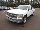 2013 Summit White Chevrolet Silverado 1500 LT Crew Cab #72766620