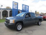 2013 Blue Granite Metallic Chevrolet Silverado 1500 Work Truck Extended Cab #72766202
