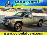2010 Blue Granite Metallic Chevrolet Silverado 1500 LS Regular Cab 4x4 #72766871