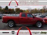 2012 Deep Cherry Red Crystal Pearl Dodge Ram 1500 Express Quad Cab 4x4 #72766056