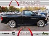 2012 Black Dodge Ram 1500 Express Regular Cab #72766049