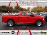 2012 Flame Red Dodge Ram 1500 Express Quad Cab 4x4 #72766048