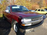 2001 Dark Carmine Red Metallic Chevrolet Silverado 1500 LT Extended Cab 4x4 #72766311
