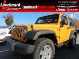 2012 Dozer Yellow Jeep Wrangler Sport S 4x4 #72766271