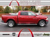 2012 Deep Cherry Red Crystal Pearl Dodge Ram 1500 Laramie Crew Cab 4x4 #72826597
