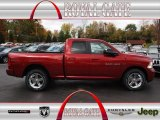 2012 Deep Cherry Red Crystal Pearl Dodge Ram 1500 Sport Quad Cab 4x4 #72826595
