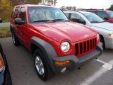 2002 Flame Red Jeep Liberty Sport 4x4 #72826961