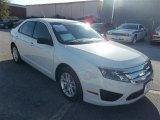 2011 White Suede Ford Fusion S #72826687