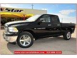 2012 Black Dodge Ram 1500 Lone Star Quad Cab #72826816