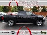 2012 Black Dodge Ram 1500 Big Horn Crew Cab 4x4 #72826874