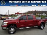 2008 Inferno Red Crystal Pearl Dodge Ram 3500 SLT Mega Cab 4x4 Dually #72826739