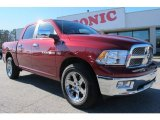2011 Deep Cherry Red Crystal Pearl Dodge Ram 1500 Laramie Crew Cab 4x4 #72826736