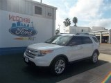 2013 White Platinum Tri-Coat Ford Explorer XLT #72826676