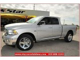 2012 Bright Silver Metallic Dodge Ram 1500 Lone Star Quad Cab 4x4 #72826810