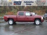 2013 Deep Ruby Metallic Chevrolet Silverado 1500 LT Crew Cab 4x4 #72867819