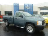 2008 Blue Granite Metallic Chevrolet Silverado 1500 Work Truck Regular Cab 4x4 #72867842