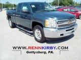 2013 Blue Granite Metallic Chevrolet Silverado 1500 LT Extended Cab 4x4 #72902852
