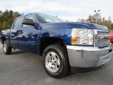 2013 Blue Topaz Metallic Chevrolet Silverado 1500 LT Crew Cab #72902739