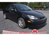 2003 Pitch Black Ford Focus SE Sedan #72902279