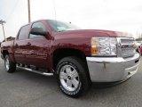 2013 Deep Ruby Metallic Chevrolet Silverado 1500 LT Crew Cab 4x4 #72902733