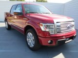2013 Ruby Red Metallic Ford F150 Platinum SuperCrew #72902653