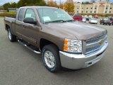 2013 Mocha Steel Metallic Chevrolet Silverado 1500 LT Extended Cab 4x4 #72902907