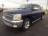 2013 Blue Topaz Metallic Chevrolet Silverado 1500 LT Crew Cab 4x4 #72902820