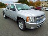 2013 Silver Ice Metallic Chevrolet Silverado 1500 LT Crew Cab 4x4 #72902904