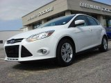 2012 Oxford White Ford Focus SEL 5-Door #72902492
