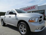 2012 Bright Silver Metallic Dodge Ram 1500 Express Crew Cab #72902626