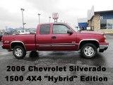 2006 Sport Red Metallic Chevrolet Silverado 1500 Hybrid Extended Cab 4x4 #72945925
