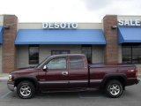 2000 Dark Carmine Red Metallic Chevrolet Silverado 1500 LS Extended Cab 4x4 #7286552