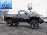 2013 Black Chevrolet Silverado 1500 Work Truck Regular Cab 4x4 #72945471