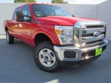 2012 Vermillion Red Ford F250 Super Duty XLT Crew Cab 4x4 #72945563