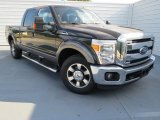 2012 Green Gem Metallic Ford F250 Super Duty XLT Crew Cab #72945562