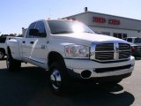 2008 Bright White Dodge Ram 3500 Big Horn Edition Quad Cab 4x4 Dually #7285532