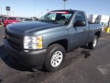 2008 Blue Granite Metallic Chevrolet Silverado 1500 Work Truck Regular Cab 4x4 #72945716