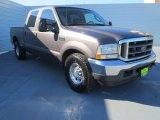 2003 Dark Shadow Grey Metallic Ford F250 Super Duty XLT Crew Cab #72945588