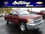 2013 Deep Ruby Metallic Chevrolet Silverado 1500 LT Crew Cab 4x4 #72945948