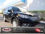 2013 Crystal Black Pearl Honda CR-V EX AWD #72991420