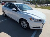 2013 Oxford White Ford Fusion S #72992268