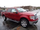 2013 Ruby Red Metallic Ford F150 Lariat SuperCrew 4x4 #72991596