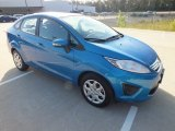 2013 Blue Candy Ford Fiesta SE Sedan #72992265