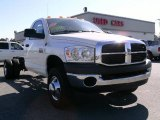 2007 Bright White Dodge Ram 3500 SLT Regular Cab Dually Chassis #7285509