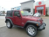 2011 Deep Cherry Red Crystal Pearl Jeep Wrangler Sport S 4x4 #72991725