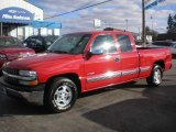 2001 Victory Red Chevrolet Silverado 1500 LS Extended Cab #73054908